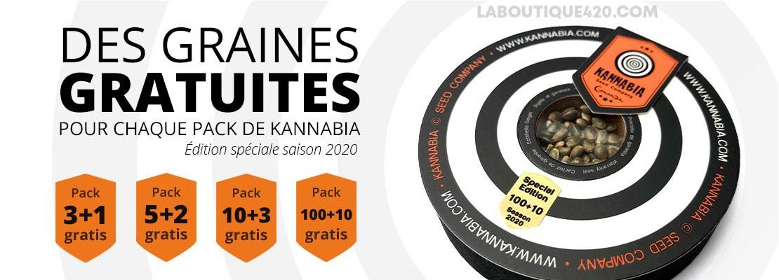Graines gratuites sur tous les packs Edition Spéciale Saison 2020 de KANNABIA